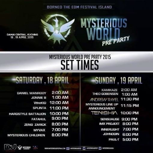 MW2015 PREPARTY SET TIME
