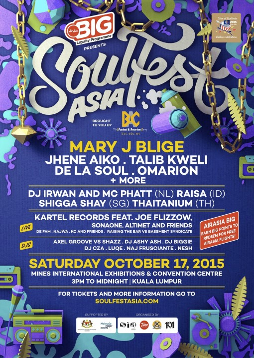 Soulfest Asia 2015 Lineup
