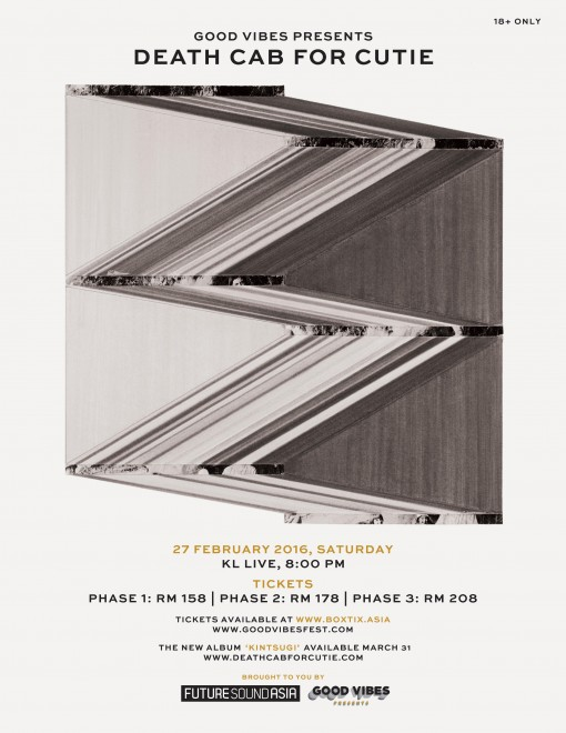 Poster - Good Vibes Presents Death Cab For Cutie