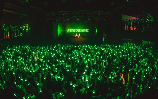 Heineken Live Your Music - A sea of green, during Live Your Music's takeover at Go Hardwell Or Go Home (3) - Photo by © All Is Amazing